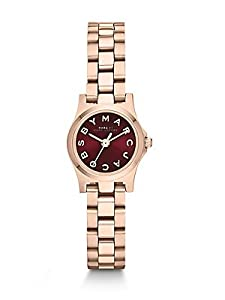 Marc By Marc Jacobs Rose Goldtone Stainless Steel Logo Watch - Rose Gold-maroon