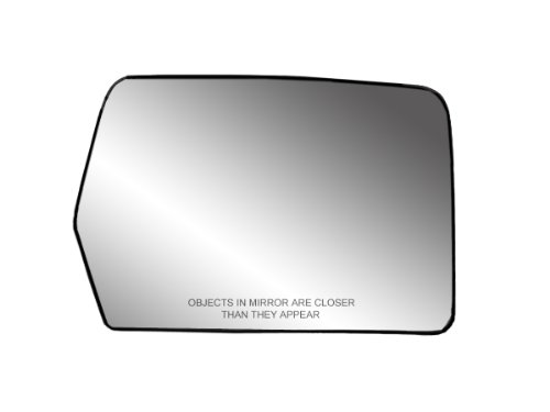 Fit System 30194 Passenger Side Heated Replacement Mirror Glass with Backing Plate