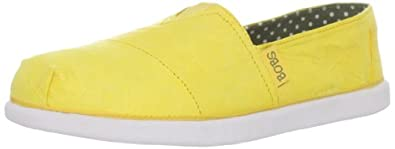 Skechers Women's Bobs World-Mankind Slip-On Loafer,Yellow,11 M US