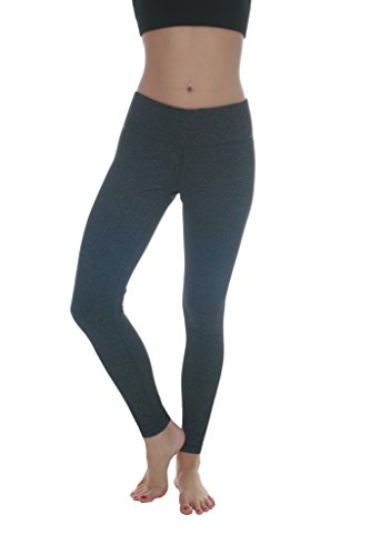 90 Degree by Reflex Power Flex Yoga Pants - Heather Charcoal - Small