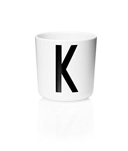 Design Letters Trinkbecher Cup Melamin schwarz/weiß Motiv I 20201000-K
