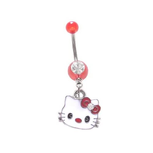 Pin Hello Kitty Belly Button Rings Tumblr on Pinterest