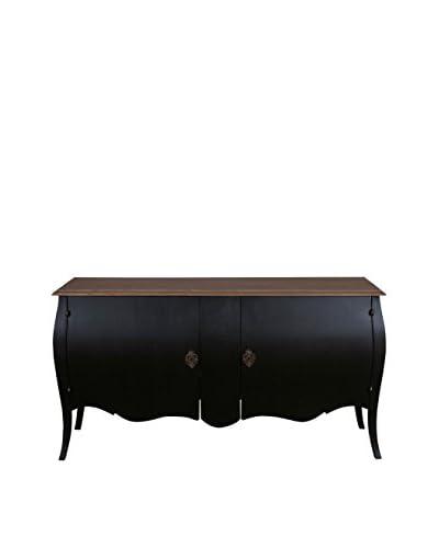 Jeffan Fiji 2-Door Cabinet, Vintage Black
