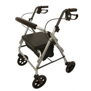 Z-TEC Folding Lightweight Aluminium Rollator in Red