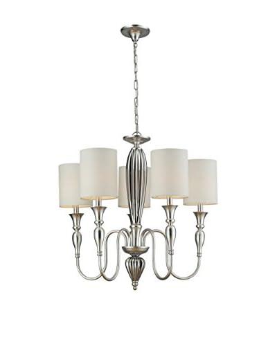 Artistic Lighting Martique 5-Light Chandelier, Silver Leaf