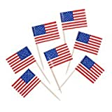 American Flag Toothpicks – Pkg of – Cute for Cupcakes! 500