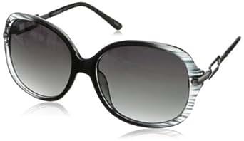 Steve Madden Women's S5469 Round Sunglasses,Black,58 mm