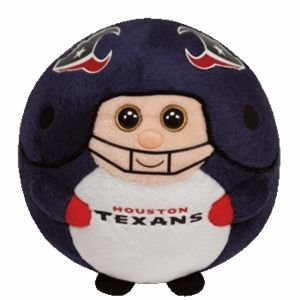 "Ty Beanie Ballz 13"" Houston Texans Plush front-907576"