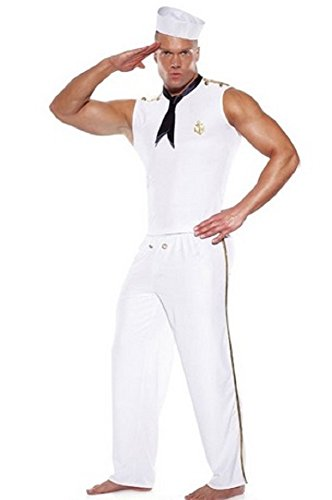 Men Four Piece Sexy Sailor Costume