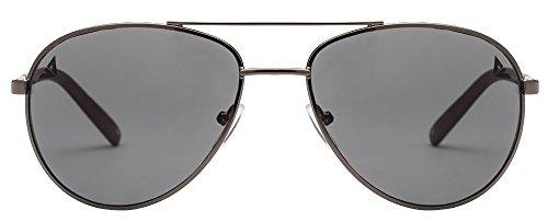 Vincent Chase VC 6962 Gunmetal Black Gray Grey C10 Aviator Sunglasses (103678)