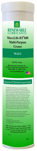 Renewable Lubricants Maxxlife Ht 600 High Temperature Nlgi 2 Multipurpose Grease, 16 Oz Tube