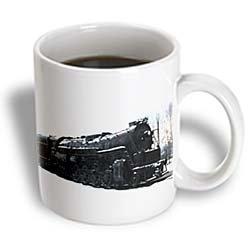 3Drose Train In Snow Ceramic Mug, 11-Ounce