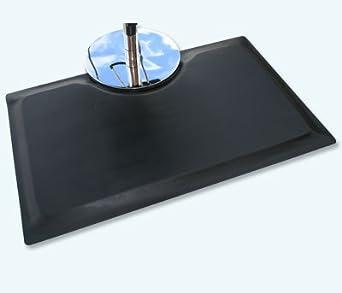 "Rhino Mats MFS-3660R Multi-Flex Salon Rectangle Mat, 3' Width x 5' Length x 7/8"" Thickness, Black"