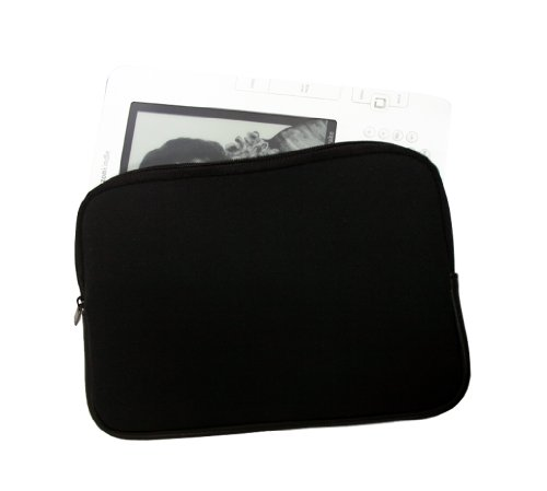 Zipper Tasche Sony PRS mit Reissverschluss. Neopren Case für E-Book Reader SONY PRS-505 PRS-600 Touch - preiswerte & sichere Tasche für elektronische Buch, Farbe schwarz
