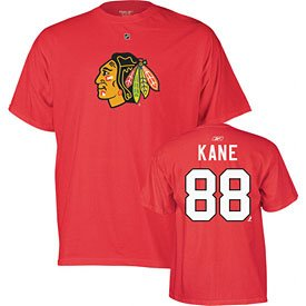 NHL Reebok Chicago Blackhawks #88 Patrick Kane Red Player T-shirt by Reebok