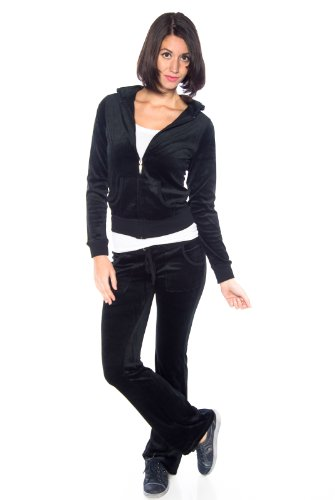 Zenana womens velour suit set