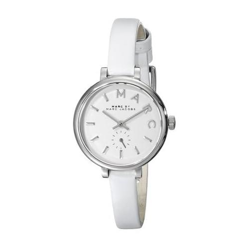 マークバイマークジェイコブス Marc by Marc Jacobs Women's MBM1350 Stainless Steel Watch with Skinny White Leather Band 女性 レディース 腕時計 【並行輸入品】