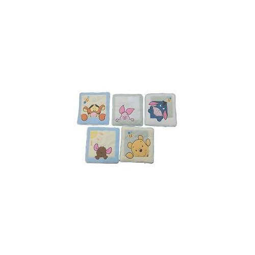 Amazon Com Soft Amp Fuzzy Pooh Wall Hanging 5 Piece Set