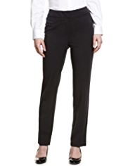 M&S Collection Supercrease™ Angled Seam Slim Leg Trousers
