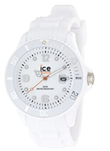 Ice Watch - SI.WE.B.S.09 - Ice Blanc - Montre Homme - Quartz Analogique - Cadran Blanc - Bracelet Silicone Blanc - Grand Modèle