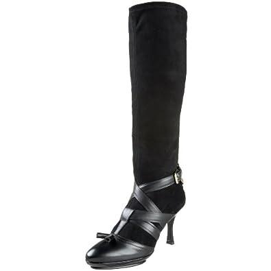 BALLY Women's Padasa 00 Boot,Black,7.5 M US