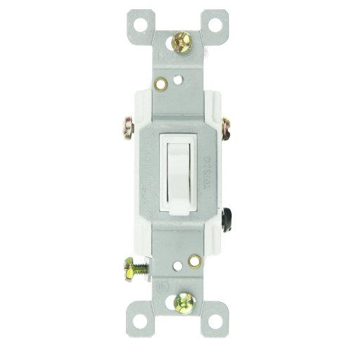 Sunlite 08110-Su E507 3 Way Grounded Toggle Switch, White