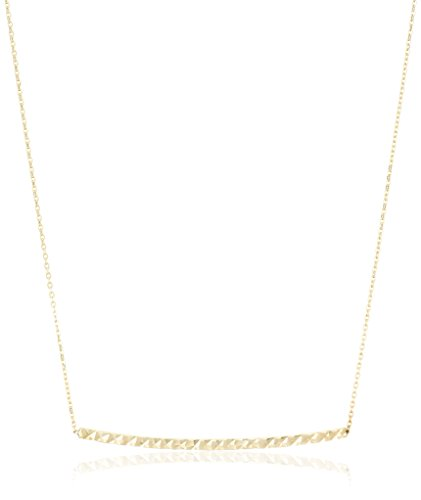 14k-Yellow-Gold-Diamond-Cut-Bar-Rolo-Adjustable-Chain-Necklace-18