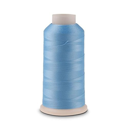 PIXNOR 3000 Yards Spool Luminous Glow In The Dark Machine Embroidery Sewing Thread blue (Embroidery Machine Thread Blue compare prices)