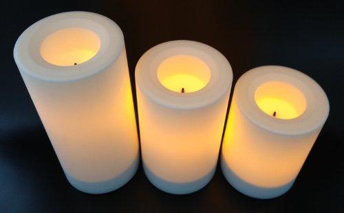 Flammenlose LED Kerzen (3er Set)