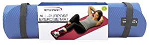 Buy Empower All Purpose Exercise Mat with Carry Strap, Periwinkle by Empower