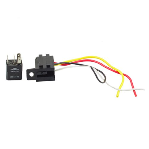 New Car Auto 30A 12V Spst Relay & Socket Kit For Electric Fan Fuel Pump Horn 4Pin 4 Wire Relays