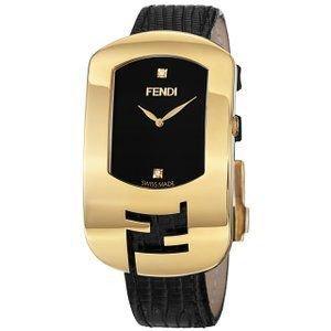 腕時計 Fendi Women's Black Genuine leather Watch【並行輸入品】
