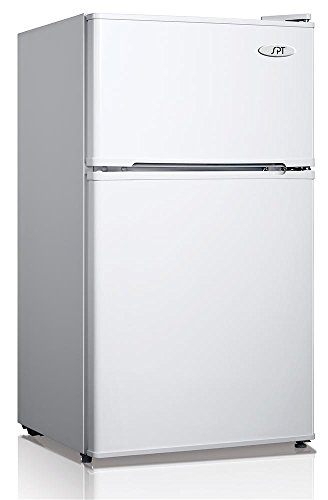 Spt Rf-314W Double Door Refrigerator, White, 3.1 Cubic Feet