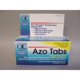 Buy QC Azo Tablets, 32 ct (Azo, Health & Personal Care, Products, Health Care, Pain Relievers, Urinary Tract Infection Treatments)