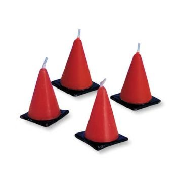 Review Creative Converting Under Construction Molded Cone Candle Set, 6 Per Package