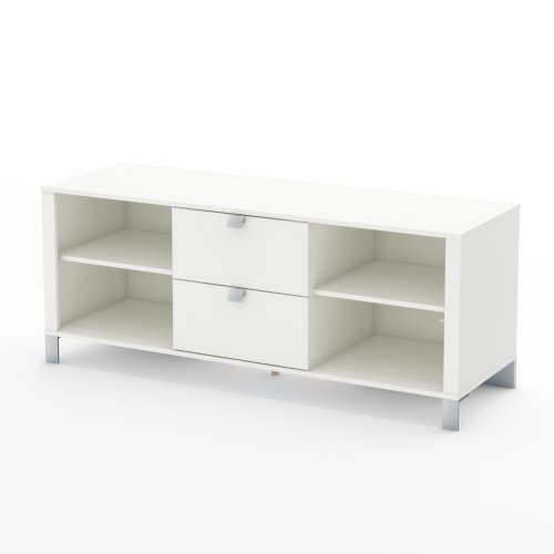 Cheap South Shore Spark TV Stand, Pure White (B008DS67YE)