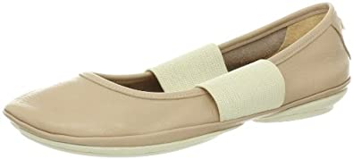 Camper Women's Right 21595 Ballet Flat,Beige,35 EU/5 M US