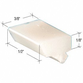 C.R. LAURENCE G3115 CRL 3/8 Wide Nylon Top and Bottom Window Guide for Majestic Windows by C.R. Laurence