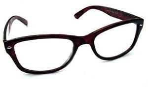 WAYFARER STYLE READING GLASSES TORTOISESHELL +2.0 RETRO LOOK R4007