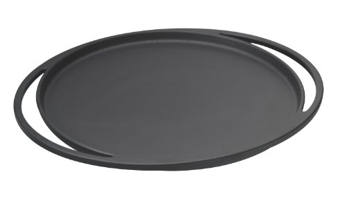 Lava Signature Cast-Iron Multi-Purpose Pizza /Crepe/Pancake Pan-11 inch, Slate Black