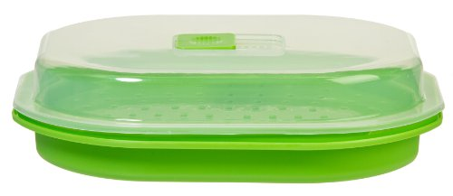 Prepworks From Progressive International Gmmc-450 Microwavable Fish And Veggie Steamer