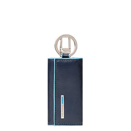 Piquadro PC1253B2/BLU2 Blue Square Portachiavi, Blu, 10 cm