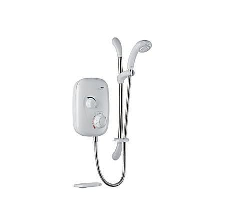Mira Event XS M Manual Power Shower - White/Chrome