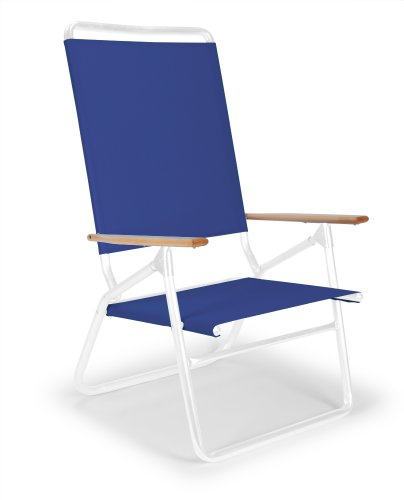 Telescope Casual Light N' Easy High Boy Chair, Gloss White Frame Finish With Atlantis Blue Fabric