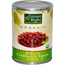 Grown Right Organic Whole Cranberry Sauce 14oz Cans Pack of 4