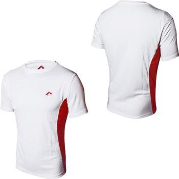 Mens More Mile LAZIO short Sleeve White running top MM1427