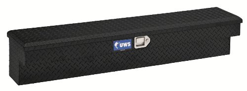 UWS TBSM-60-BLK Black Aluminum Side Mount Box with Beveled Insulated Lid (Black Side Mount Tool Box compare prices)