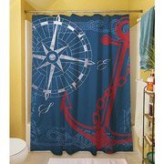 Thumbprintz Shower Curtain, Anchors Away Navy front-423502