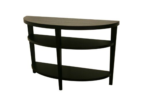 Cheap Baxton Studio Charleston Modern Black Wood Sofa Table / Console Table (DT-805-black)