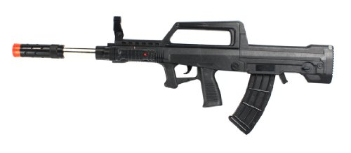 Velocity Airsoft Qbz-95 Assault Rifle Spring Airsoft Gun Fps-250 W/ Integrated Silencer, Bullpup Design, Unique Loading Action